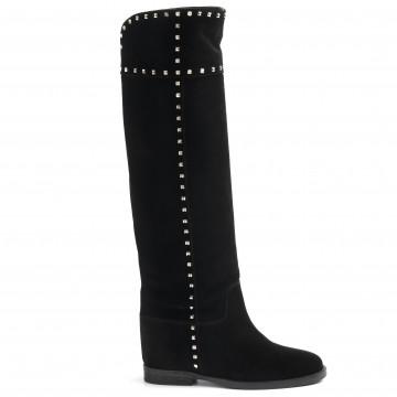 stiefel  boots damen via roma 15 3403velour nero 8953
