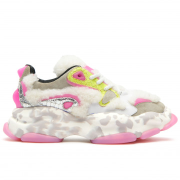 sneakers woman cljd 6f0380201 white yellow 8964