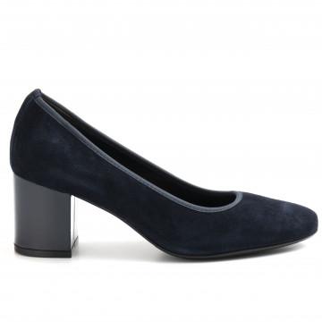 pumps woman cinzia valle 9239camoscio blu 8985