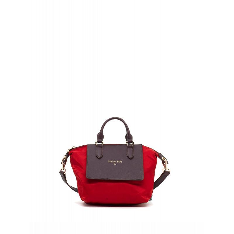 handbags woman patrizia pepe 2v6580 a1zl h304 red nylbrown 494
