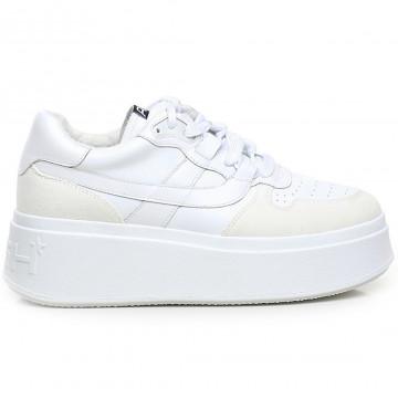 sneakers damen ash match02calf suede wht 9185