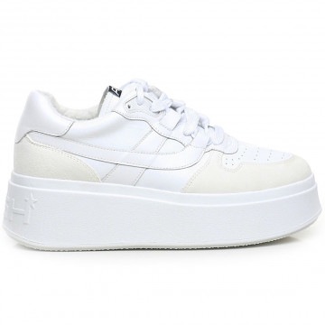 sneakers woman ash match02calf suede wht 9185