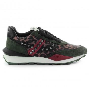 sneakers woman ash spiderstud06suede military 9175