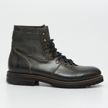 lace up ankle boots man cavallini 733island grafite  2054