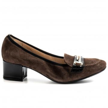 loafers woman sangiorgio 834camoscio marrone 9211