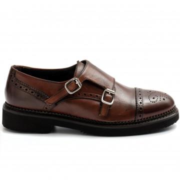 slipper damen sangiorgio d611montone marrone 9221
