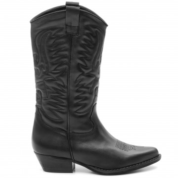 stiefel  boots damen les tulipes 702vit nero 9327