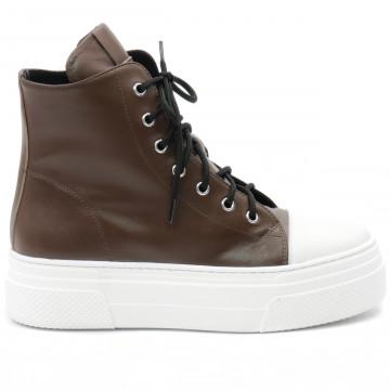 sneakers damen bruglia milano 8565testa di moro 9335