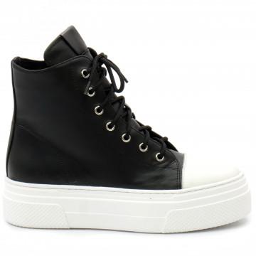 sneakers woman bruglia milano 8565nero 9336
