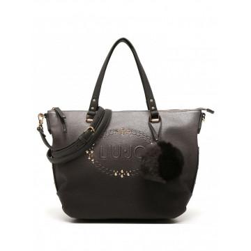 handbags woman liu jo n66019e0027a3168 gun metalfrozen 836
