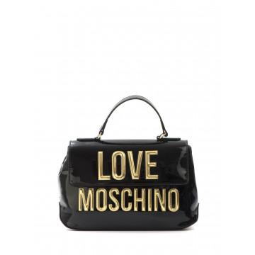 handbags woman love moschino jc 4281 kk0000 patent nero 1614