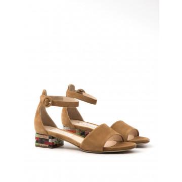 sandals woman roberto festa 8121 assia camoscio ambra 869