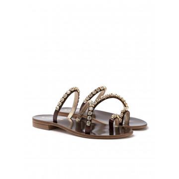 sandals woman positano 4859 laminato bronzo 1081