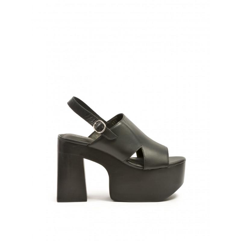 sandals woman jeffrey campbell cecilia leather black 234