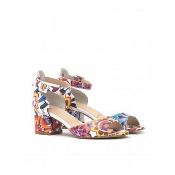 sandals woman milla lookett fiore multi bianco 806