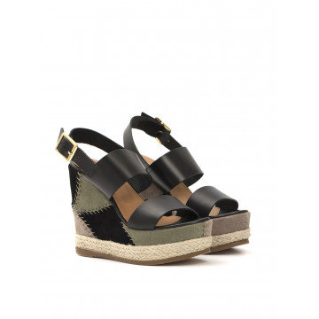 sandalen damen fiorina  s 45cr 380 np neroverde 1363