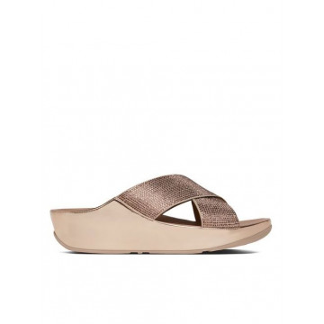 sandals woman fitflop b35 323 crystall slide rose gold cryst 801