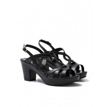 sandals woman silvia rossini 1311 elena capri nero 644