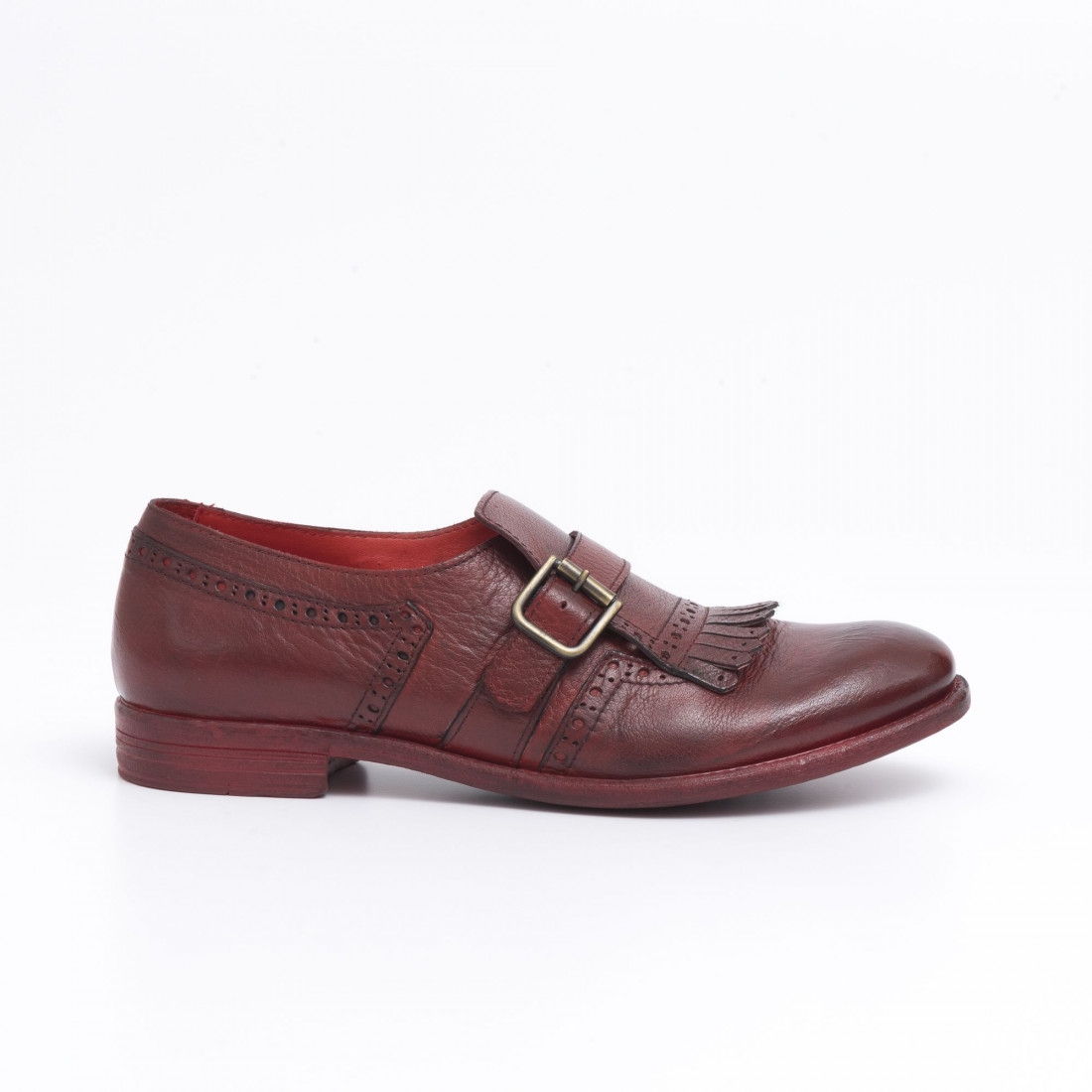 monk straps woman hundred w246 08 bufalo rosso 485