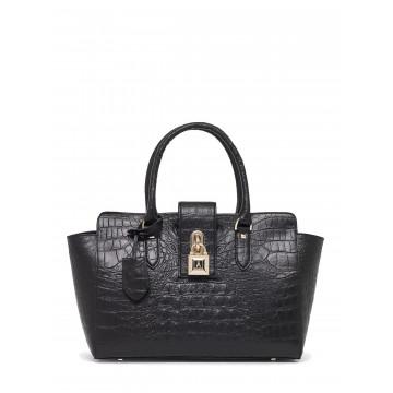 handbags woman patrizia pepe 2v4912 a2cl k226 croco blk 1408