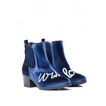 booties woman giulia n tronchetto blu 819