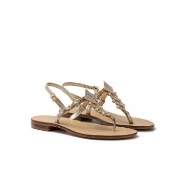 sandals woman positano 4811 laminato platino 2 1222