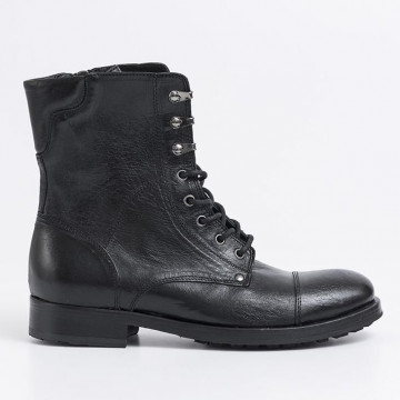 lace up ankle boots man pawelks 16104calif nero rock 2201