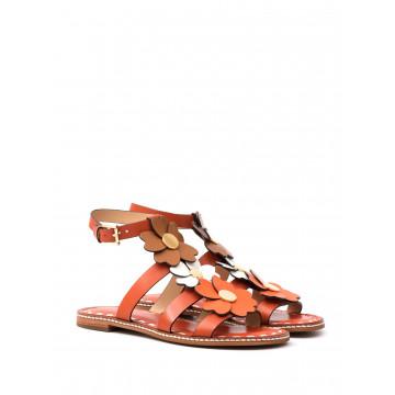 sandals woman michael kors 40s7kifa3l kit flat sandal orange 1667
