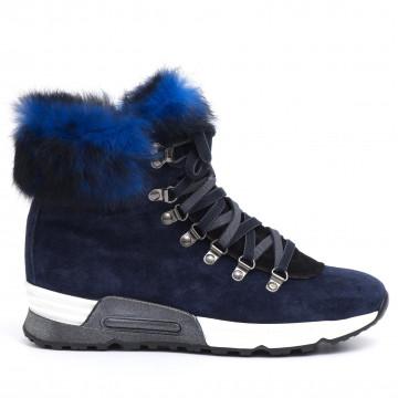 sneakers woman joyks 4124 pcamoscio blu