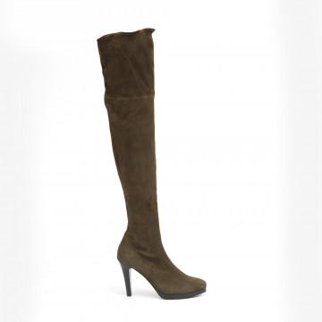 boots woman lorenzo masiero w185a216z stretch military 2580