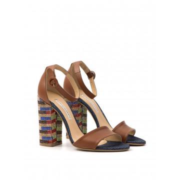 sandals woman roberto festa 193138 emy opal cuoio denim 1123