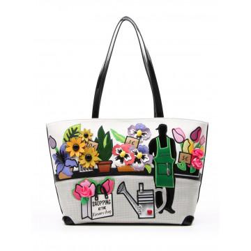 handbags woman braccialini b11258 yy818 cartoline 1012