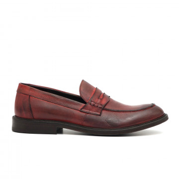 loafers man pawelks 16621tuff rosso