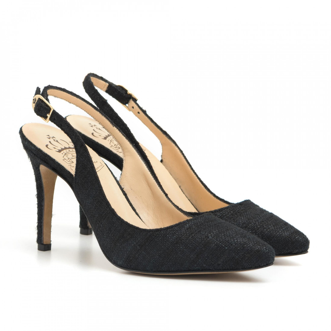 pumps woman larianna ch 2002canvas nero 2906