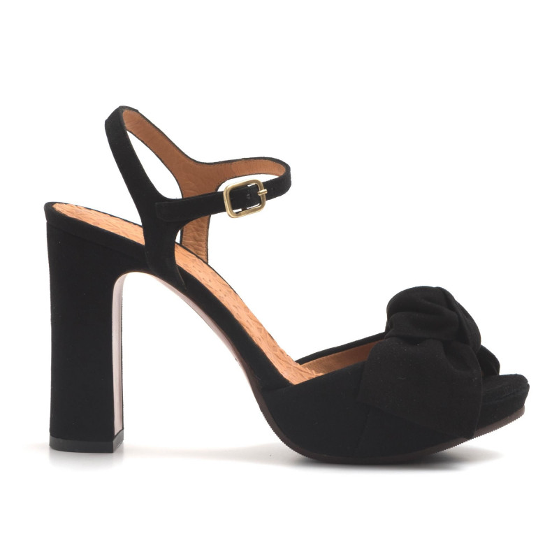 official photos ce8c9 f64f7 High heel Cactus sandals in black leather