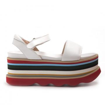 sandals woman ras 9185guanto white 3049