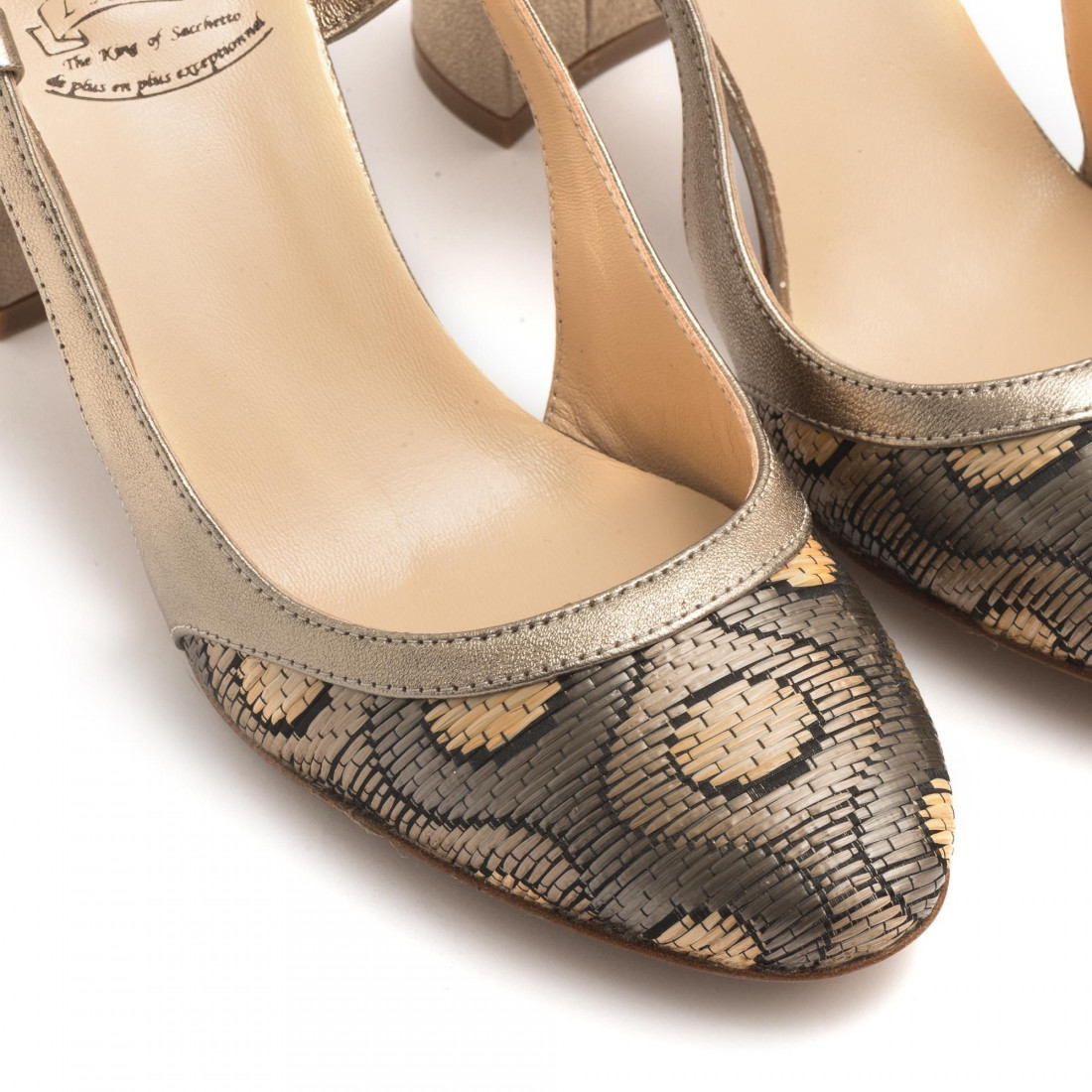 pumps woman larianna ch 1095pois taupe 3135
