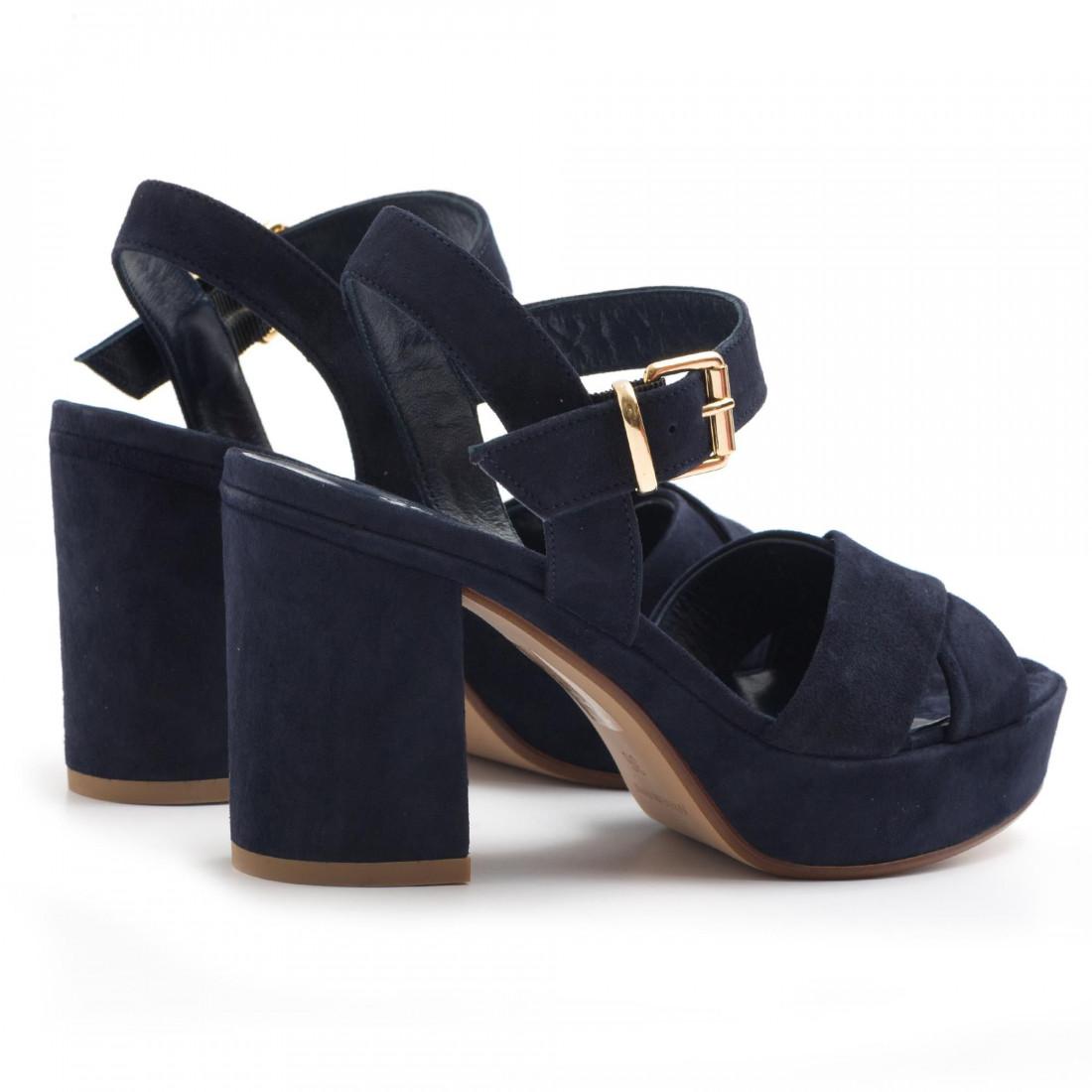 sandals woman silvia rossini 1513 5053camoscio blu navy 3183