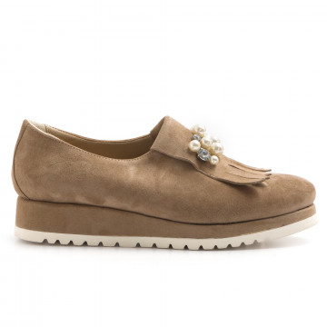 loafers woman calpierre dl140cap rov taupe 3204