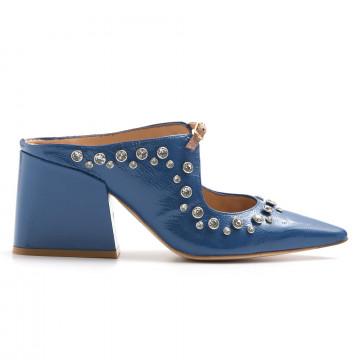 pumps woman ras 9085vernice blue 3220