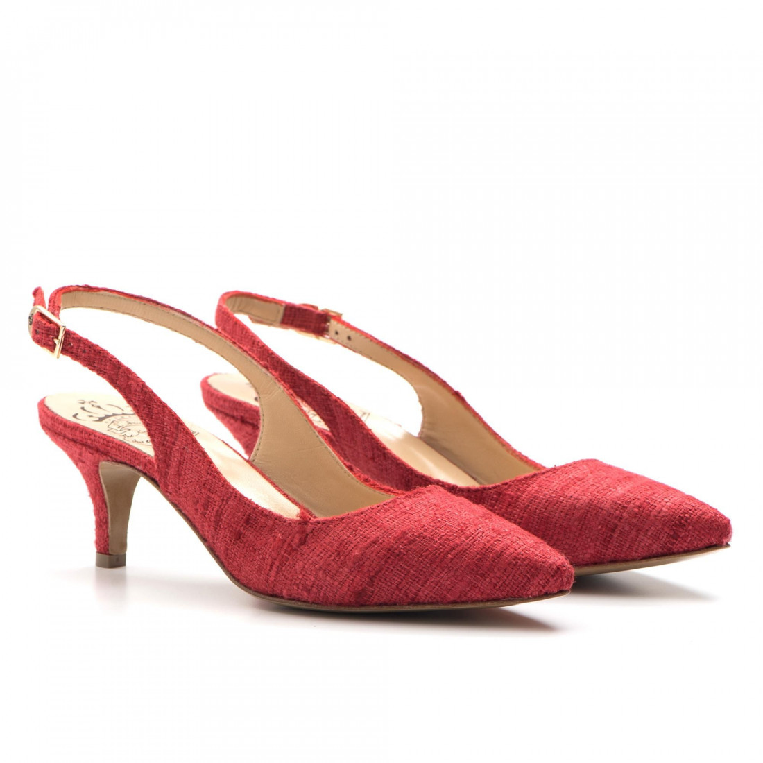 pumps woman larianna ch 2000canvas rosso 3232