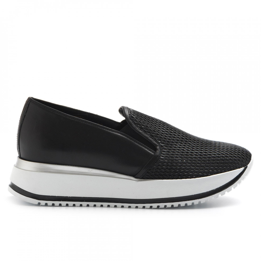 slip on woman sax 21603madras nero 3238