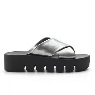 sandals woman fams solelam argento 3264