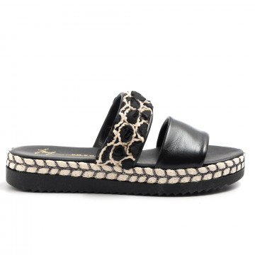 sandals woman le barbottine  1030pelle nero 3273