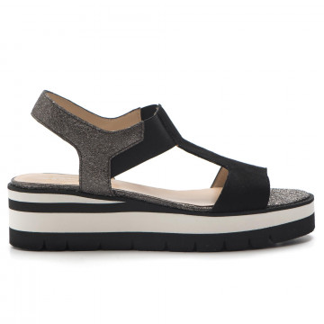 sandals woman luca grossi d 561cam nero 3279