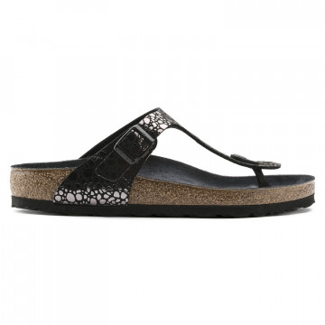sandals woman birkenstock gizeh 1008865 metal black