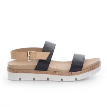 sandals woman sax 22011prince maine nero 3359