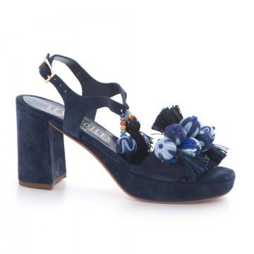 sandalen damen les etoiles s150415csilk blu 3388