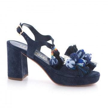 sandals woman les etoiles s150415csilk blu 3388