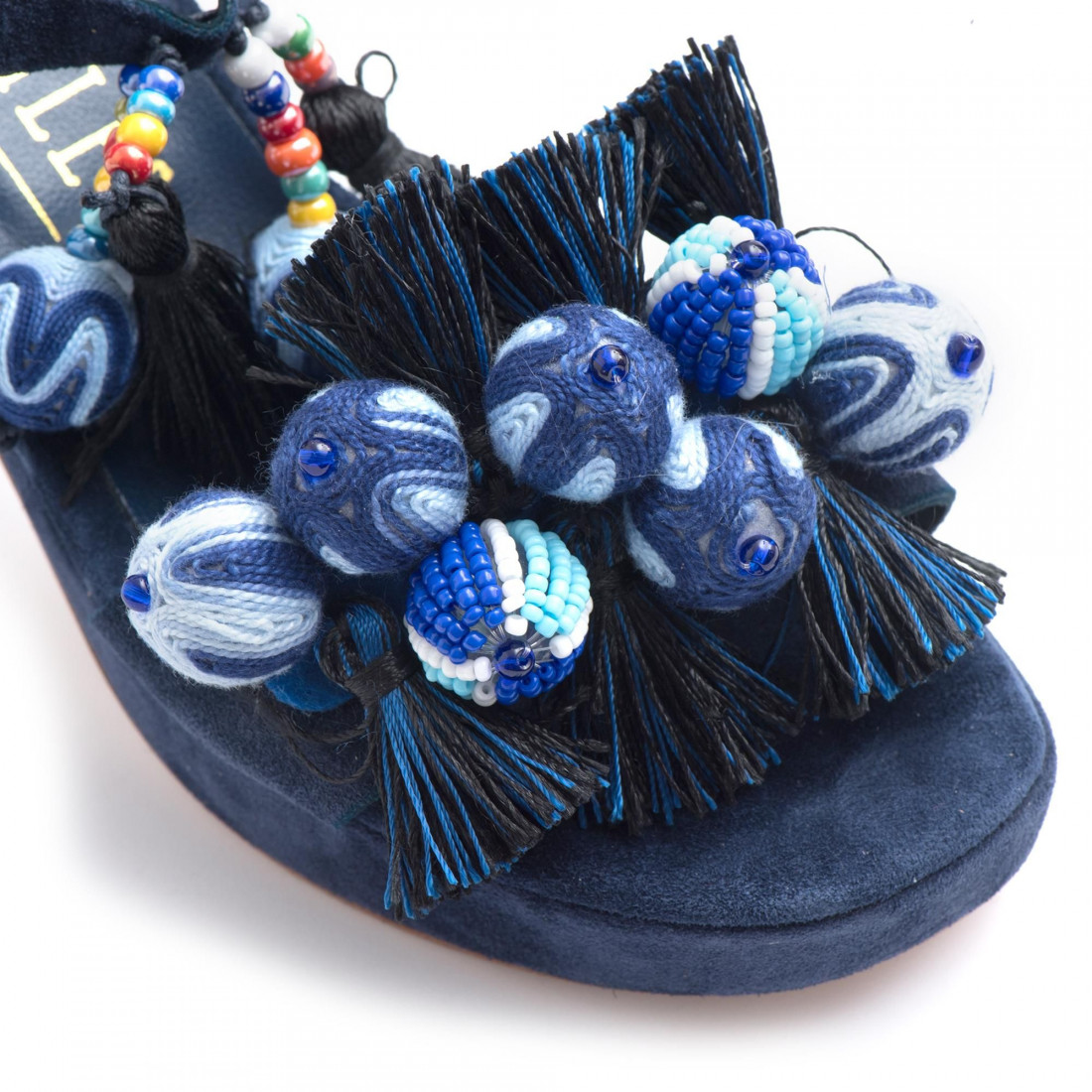 sandals woman les etoiles s150415csilk blu 3388